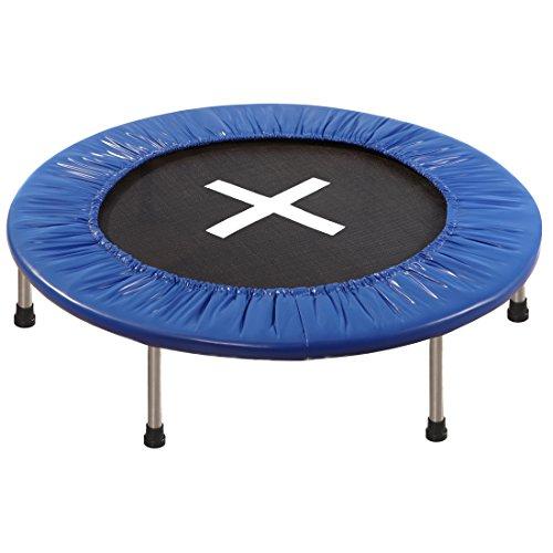 Ultrasport Trampolin Jumper, Mini-Trampolin für Kinder & Erwachsene, Indoor- und Outdoor-Trampolin, Turn- und Workout-Trampolin, standfest dank 6 Füßen, inkl. UV-beständiger Sprungmatte, Ø 96 cm