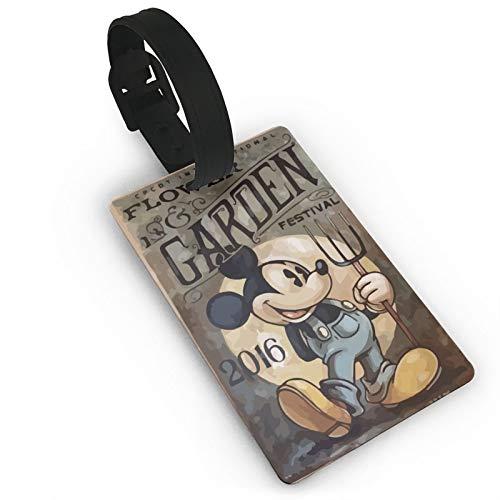 DNBCJJ Etiquetas de equipaje para maletas Evil Mickey Mouse etiqueta de equipaje, con nombre ID maleta para mujeres, hombres, niños y accesorios de viaje