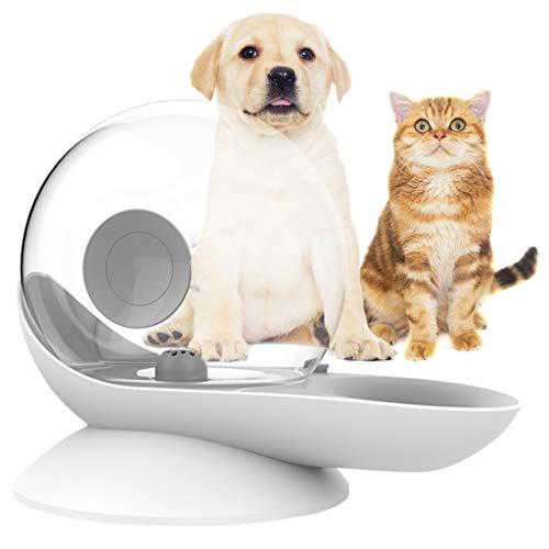 Dispensador de agua para perros, bebedero por gravedad del gato Forma de caracol Fuente automática de agua para gatos Dispensador de tazón de agua para perros - Nivel de agua fácil de ver- 2.8L