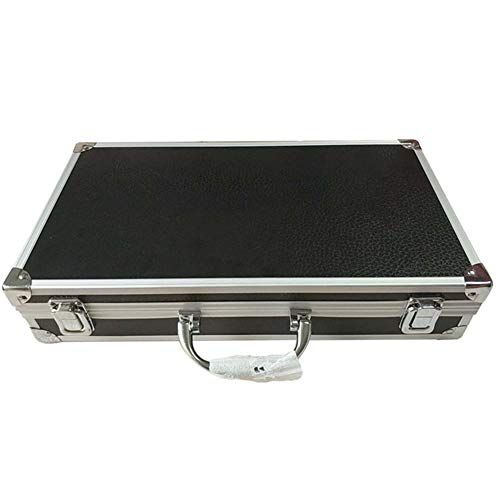 Aluminum Alloy Tool Box Portable Safety Equipment Instrument Tool Box With Foam Storage Hardware Tool Box (Size : 360x200x75mm)