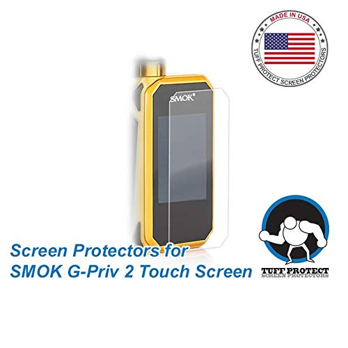 Tuff Protect Clear Screen Protectors for SMOK G-PRIV 2 Touch Screen, High Clarity, 3pcs