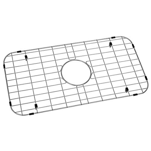 """Zeesink Kitchen Sink Grid and Sink Protector,Kitchen Sink Protector Size 24 3/16"""" X 12 11/16"""",Stainless Steel Sink Protector Grid with Center Drain for Single Sink Bowl"""