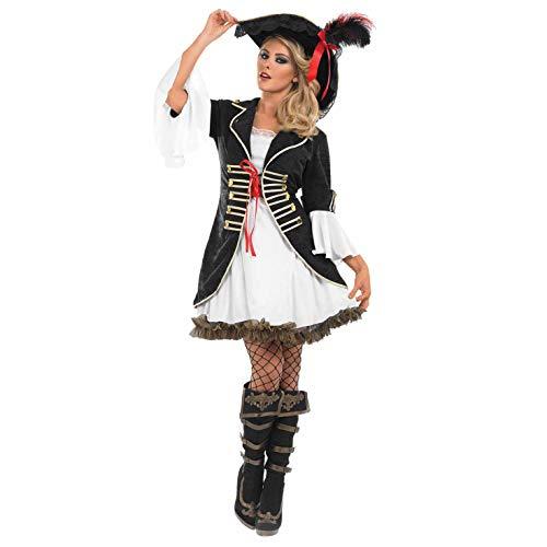Fun Shack Schwarzes sexy Piratin Kostüm für Damen - XXL