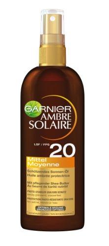 Garnier Ambre Solaire Sonnen-Öl Spray LSF 20, 1er Pack (1 x 150 ml)