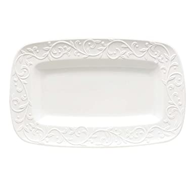 Lenox Opal Innocence Carved Hors D'oeuvres Tray