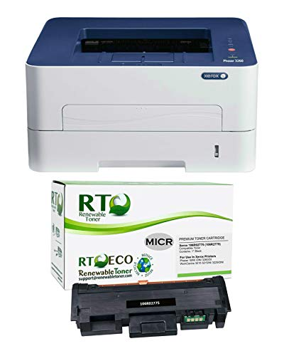 Renewable Toner Phaser 3260DI Wireless Monochrome Laser Check Printer...