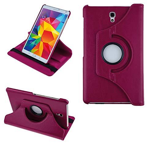 COOVY® 2.0 Cover für Samsung Galaxy TAB S 8.4 SM-T700 SM-T701 SM-T705 Rotation 360° Smart Hülle Tasche Etui Hülle Schutz Ständer   hotpink