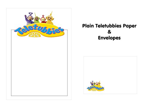 10 x A5 Petits Établissements les Télétubbies papier et C6 enveloppes assorties – Papier pour enfants – Idéal pour les Notes de remerciement, invitations, menus – Uni