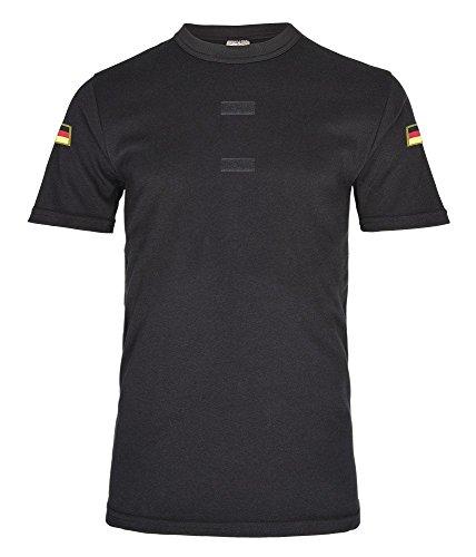 Schwarzes BW Tropen Shirt Bundeswehr Klett Unterhemd Hoheitsabzeichen Deutschland Patch Flagge Verein Gruppe #20606, Größe:3XL, Farbe:Schwarz