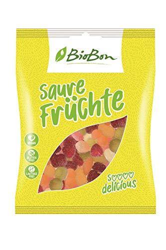 Biobon Bio-Fruchtgummis Saure Früchte 10x100g Beutel, VEGAN