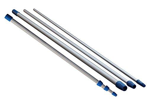 GEVENIT Asta TELESCOPICA Manico ALLUNGABILE in Alluminio 4,50 Metri (3 sezioni da 1,50 mt) Leggero con TERMINALE