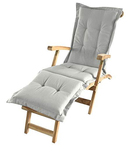 Spetebo Liegenauflage in Natur - ca. 180 x 58 x 5 cm - Auflage für Deckchair, Liegestuhl usw.