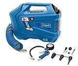 Scheppach Druckluftkompressor Airforce 3 mobil | 8 bar Druck | 180 Liter Luftleistung | 1100W | inkl. Zubehör | tragbarer Kompressor - Kofferkompressor