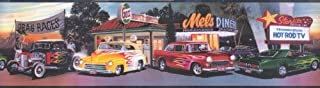 Mel's Diner Cars Wallpaper Border Chevy Ford Flames by Chesapeake