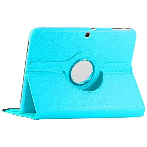 ebestStar - kompatibel mit Samsung Galaxy Tab 3 10.1 Hülle GT-P5210, 10 P5200 P5220 Rotierend Schutzhülle Etui, Schutz Hülle Ständer, Rotating Hülle Cover Stand, Blau [Tab: 243.1x176.1x8mm, 10.1'']