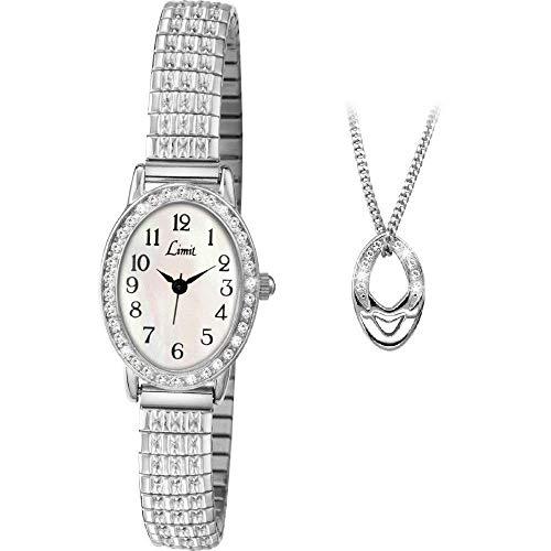 Limit Stone Set 6029P - Set di orologio da donna e ciondolo con quadrante...