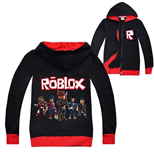 Roblox Chaqueta Niños Cremallera Suéter Adolescente Sudadera Niñas Manga Larga Camiseta Algodón...