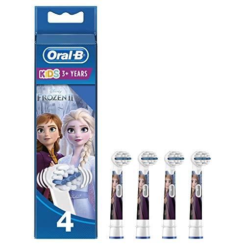 Oral-B Stages Power 4 Testine di Ricambio per Spazzolino Elettrico con i Personaggi di Frozen - Il regno di ghiaccio