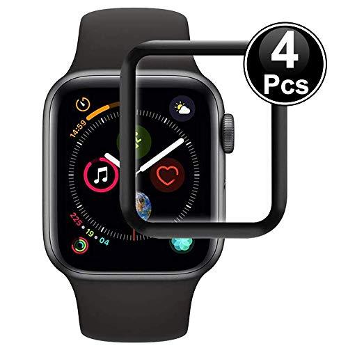 Ash-case【4 Stück Panzerglas Schutzfolie Displayschutz für Apple Watch Series 3/2/1 38mm [Anti-Öl], [Anti-Bläschen], [3D Vollständige Abdeckung],[Anti-Kratzen]