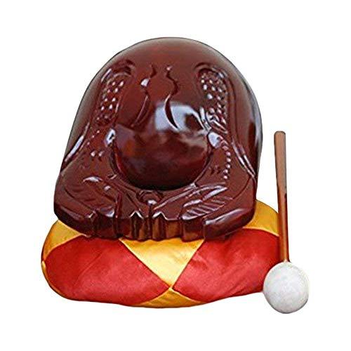 Tempel Kloster Holzfisch Klangholz - Chinesisch Traditionell Buddhistisch Mönche Holzblock Mu Yu Zen Chan Schlitztrommel mit Kissen Meditation Sutra Rezitation Musikinstrument - Kampferholz (Pruple)