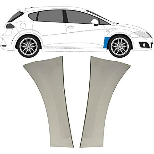 Juego de 2 paneles de reparación de alas delanteras para Seat León 2005-2012 / 1P1 / Acero sin pintar, para ambos lados del coche/Deshazte del óxido en tu coche