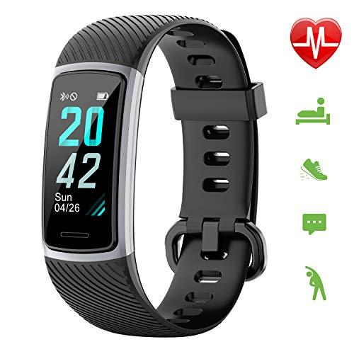 Letsfit Fitness Armband, Schrittzähler Uhr, Wasserdicht IP68 Aktivitätstracker mit Pulsmesser, Fitness Tracker pulsuhr für Kinder Damen Herren iOS Android Kompatibel