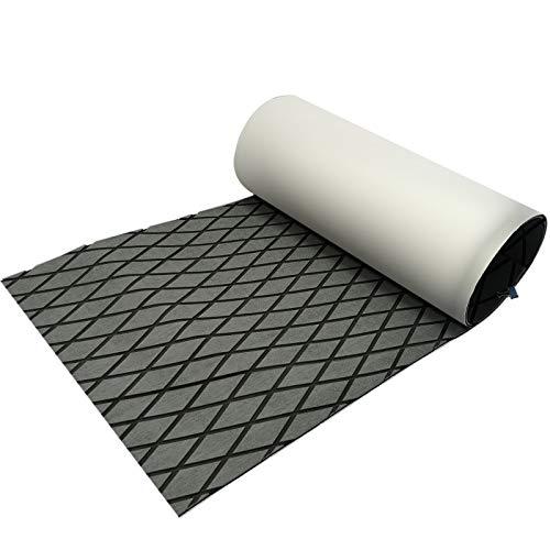 CHURERSHINING EVA Boat Decking Sheet Yacht Marine Teak Flooring Carpet with Backing Adhesive 74.8