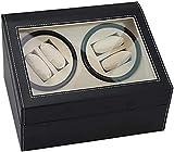 Caja de relojes Caja de almacenamiento de exhibición de relojes Caja de reloj Doble cabeza negra Caja de motor eléctrico Caja de reloj de cuerda automática Mesa de agitación Reloj mecánico RegaloNe