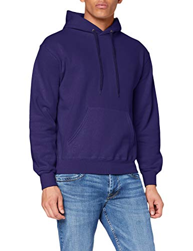 Fruit of the Loom SS026M, Sudadera con capucha Para Hombre, Morado (Purple), Large