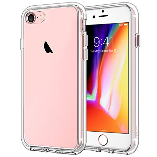 JETech Case Compatible with iPhone 8, iPhone 7, iPhone SE 2020, 4.7-Inch, Shockproof Bumper Cover, Anti-Scratch Clear Back, Ultra HD