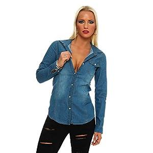 0b2add88dacf90 Fashion4Young 11051 Langarm Damen Jeans Bluse Hemdbluse Damenbluse Jeanshemd  JeansbluseFashion4Young 11051 Langarm Damen Je… 3,8 von 5 Sternen3