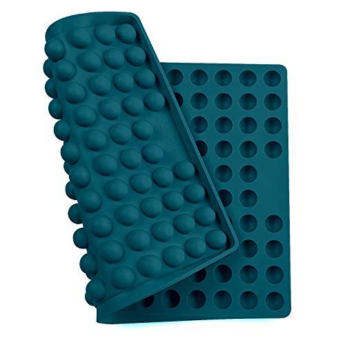 Collory Silikon Backmatte   2cm Halbkugel Backform für Hundekekse Hundeleckerlies   Hitzebeständig 240°C   40x28.5x1.5cm   Lebensmittelecht (BPA-frei)   Pralinenform (Petrol)