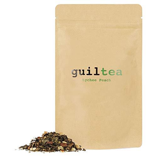 guiltea 100g Teemischung I Weißer und grüner Tee mit Lychee-Pfirsich-Geschmack I Loser Tee