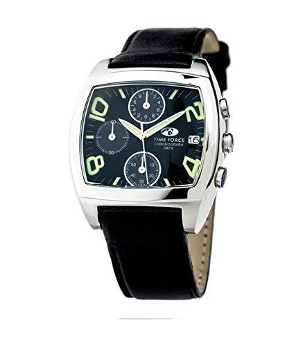 TIME FORCE Reloj Analógico para Hombres de Cuarzo con Correa en Cuero TF2589M-01