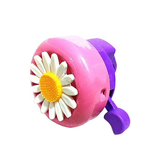 Hustar Erwachsene Kinder Fahrradklingel Fahrradglocke Horn Blume Radfahren Glocke Rosa Lila