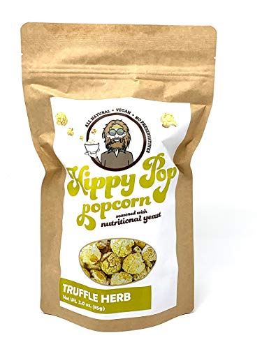 Why Should You Buy HIPPY POP - Truffle Herb Popcorn (3 oz) - Vegan, Non-GMO, Made with Nutritional Y...