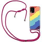 ShinyCase Coque pour Xiaomi Mi 10 Lite 5G Couleur Housse Etui Souple Lanière avec Cordon Réglable...