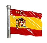 zamonji Bandera de España | 3D Imanes para Refrigerador Imán de Nevera de Resina | Recuerdos de Viaje