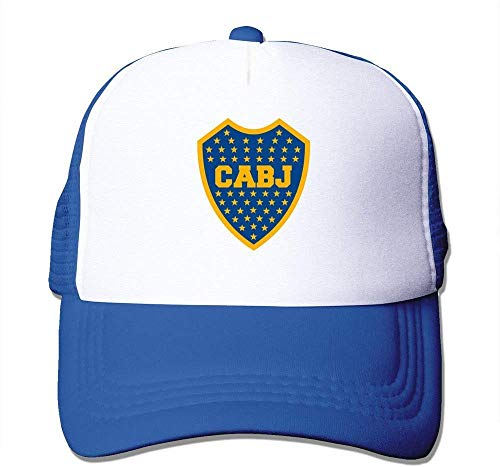 Kjfilo Latest Adult Unisex Escudo del Club Atletico Boca Juniors 100% Nylon Mesh Caps One Size Fits Most Adjustable Sport Hat RoyalBlue