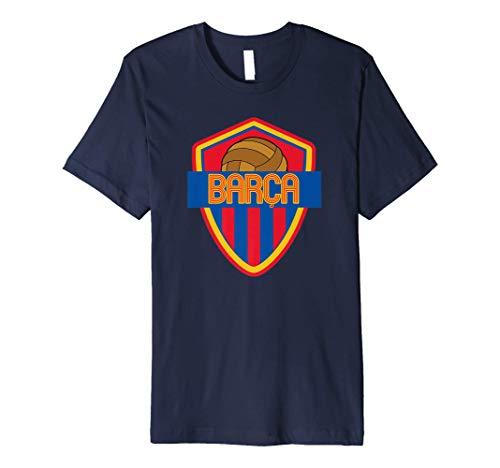 Barcelona Soccer Spain Barca Futbol Fan Jersey Style Premium T-Shirt
