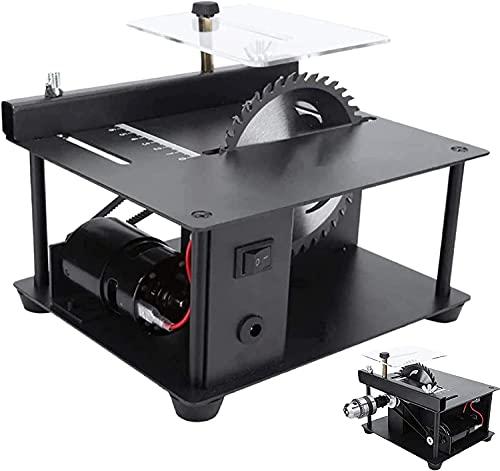 wsbdking Mini sierra de mesa multifuncional, vio circular de escritorio, vía eléctrica con cable, velocidad ajustable, profundidad de corte de 35 mm con función de perforación de pulido para BRICOLAJE
