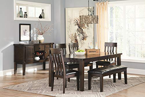 Signature Design by Ashley Haddigan Dining Room Bench, Dark Brown