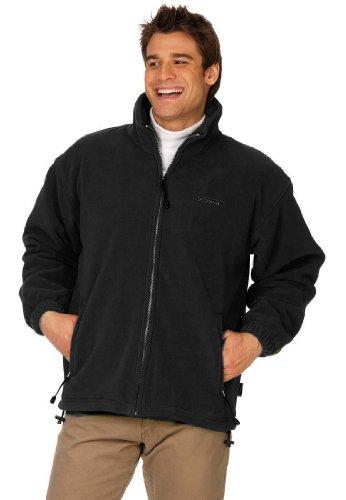 Terratrend Job 0605–2x l-1000Größe 2X Große Fleece Jacke–Schwarz