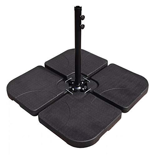 FANLU Hochleistungs-freitragender versetzter Patio-Kunststoff-freistehender Regenschirmfuß, schwarz
