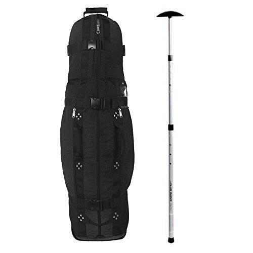 Club Glove Last Bag Collegiate Golf Travel Cover w/Free Stiff Arm (Black)
