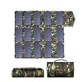 GNY Cargador Solar Panel Solar Plegable portátil 100W 18V 12V 5V USB Aire Libre Cargador de batería Solar Banco de energía para teléfono móvil Laptop (Color : 60 W)