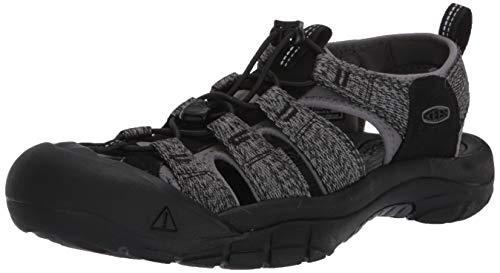 Keen Newport H2 Water Shoe, Sandalia Hombre, Acero Negro Gris, 44 EU