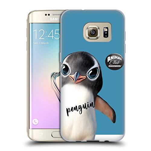 Head Case Designs Licenza Ufficiale Animal Club International Pinguino Facce Cover in Morbido Gel Compatibile con Samsung Galaxy S7 Edge