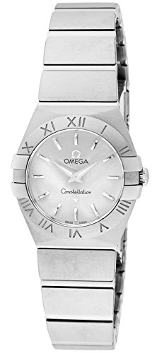 Omega Constellation Silbernes Zifferblatt 100 m wasserdicht 123.10.24.60.02.001 Damen