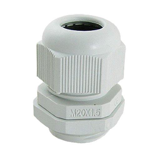 M20 x 1,5 weiße wasserdichte Kabelverschraubungen aus Kunststoff, 10 Stück de